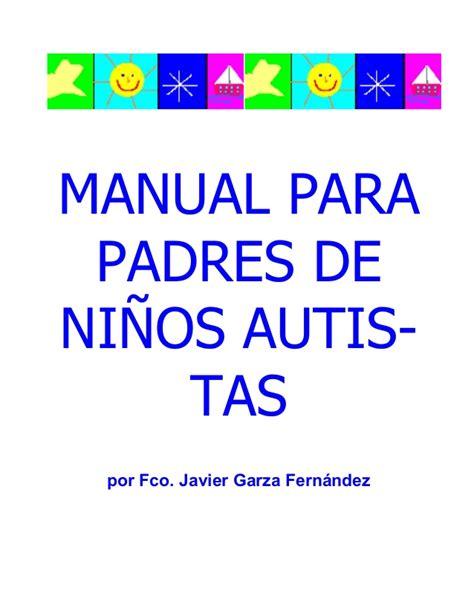 actividades para ninos autistas de 2 anos manual para padres de ni 241 os autistas