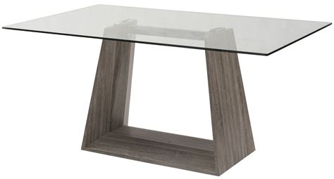 clear glass table l bravo clear glass dining table from armen living coleman