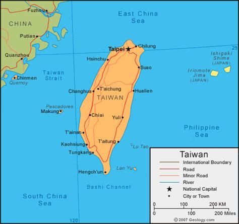taiwan map asia taiwan map and satellite image