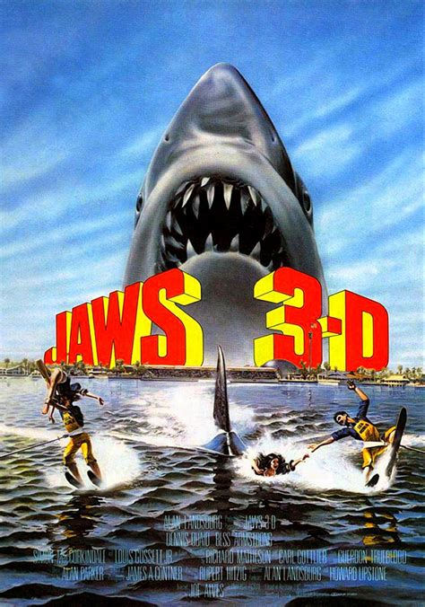 jaws    red blue anaglyph underwater  horror