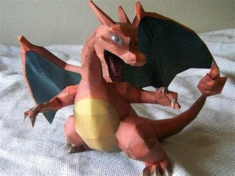 How To Make A Paper Charizard - papercraft charizard