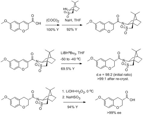 L Mechanism by Diastereoselective Cinnamate Reduction Oppolzer Auxiliary Org Prep Daily