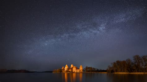 anime castle long island full hd wallpaper trakai island castle island castle star