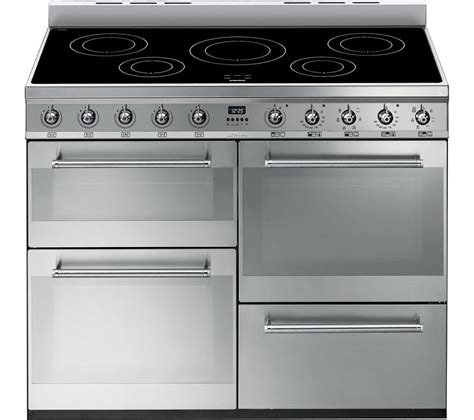 electric induction range cookers 110cm smeg symphony 110 cm electric induction range cooker stainless steel stainless steel