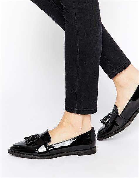 new look new look lemar black tassle pointed shoes at asos