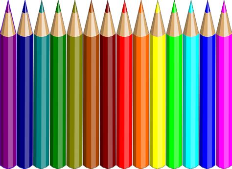 colored pictures colored pencils cliparts the cliparts