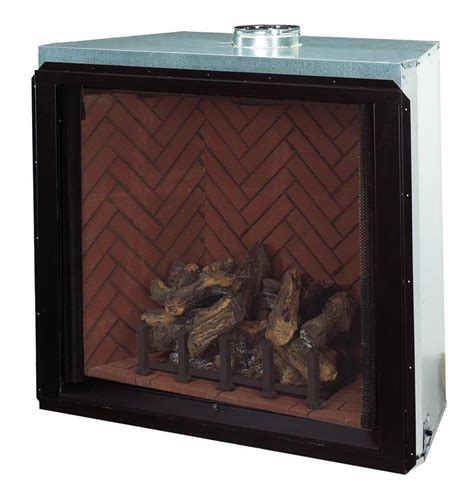 direct vent complete clean gas log fireplace superior
