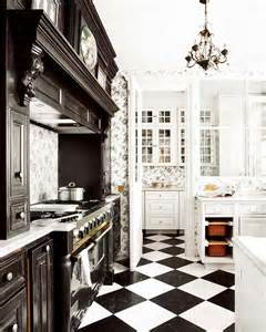 a kitchen in black and white panda s house