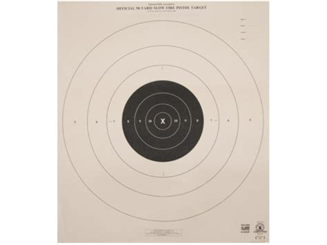 printable targets midway nra official pistol targets b 6 50 yard slow fire tagboard