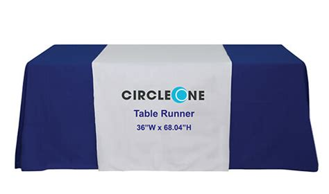custom trade show table runner with logo at best price