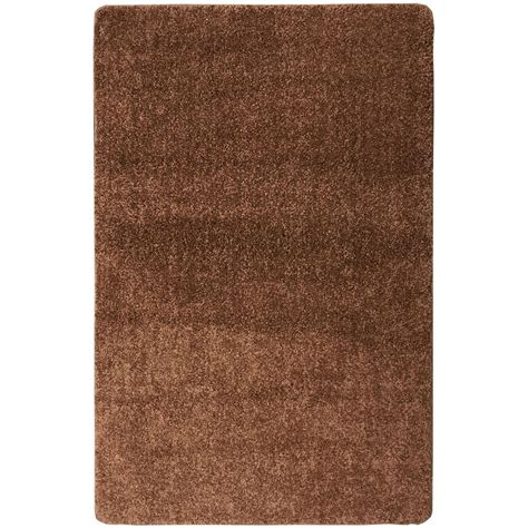 shaggy collection rugs ottomanson luxury shaggy collection shag solid design brown 5 ft x 6 ft 6 in area rug lux6008