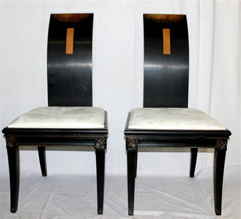 Asian Style Dining Chairs 7 Style Ebonized Upholstered Dining Chairs