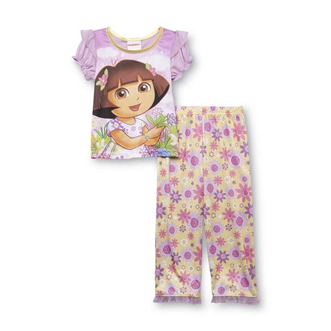 discount deals nickelodeon dora the explorer toddler nickelodeon dora the explorer infant toddler girl s pajamas