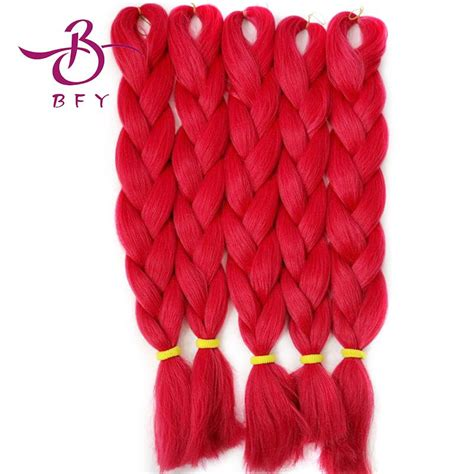 picture of red xpression braids red hair extensions 1pcs 24inch 60cm 100gram t1664