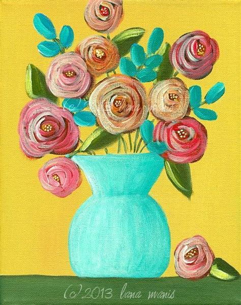 whimsical acrylic painting ideas print acrylic painting bouquet whimsical