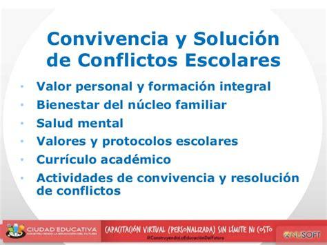 solucion de conflictos en nios convivencia y soluci 243 n de conflictos