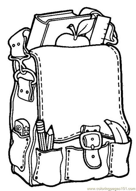 educational coloring pages 4 school bag coloring page free printable coloring pages