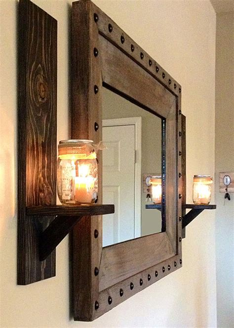 Rustic Sconces Wall rustic wall sconce rustic candle holder jar by krohndesigns