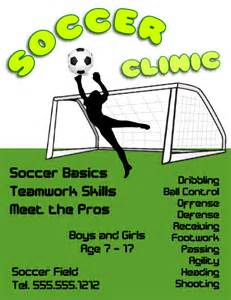 free soccer flyer template soccer clinic flyer template free view larger image