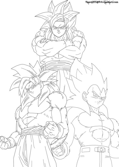 dragon ball z fusion coloring pages super saiyan 4 gogeta coloring pages