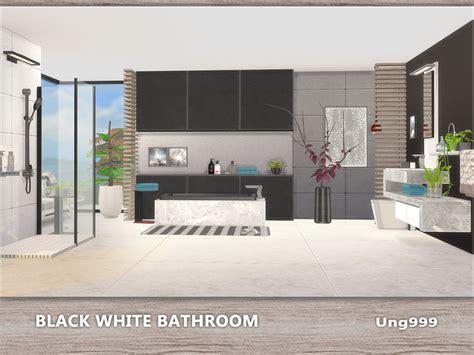 the sims 4 flooring set ung999 s black white bathroom
