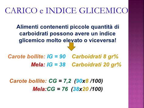 indice glicemico e carico glicemico degli alimenti la glicemia l indice glicemico degli alimenti ed il