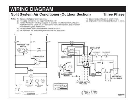 wiring diagram split system air conditioner
