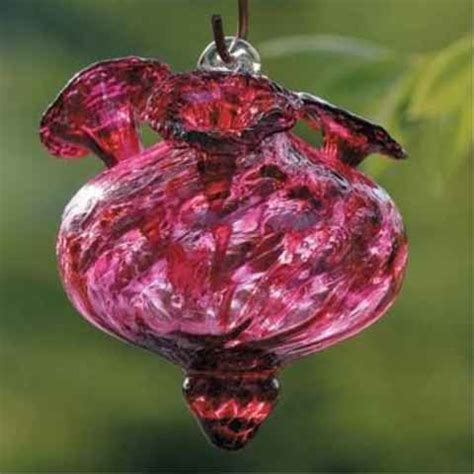 blown glass hummingbird feeder charisma hand blown glass