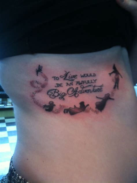 peter pan tattoo quot to live would be an awfully big