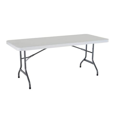 Folding 6 Foot Table Lifetime 6 Ft Granite Folding Utility Table In White 22901 The Home Depot