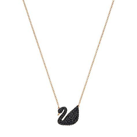 Swiss Army Trt Chain Black List Rosegold swarovski iconic swan pendant 5204134