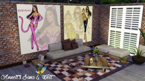 Kitchen Dining Room Furniture hayden williams celebrity paintings at annett s sims 4