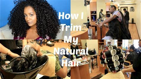 curly hair salon in dc how i trim my natural hair hair salon edition youtube