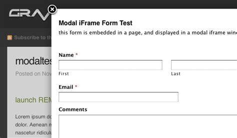 Wordpress Form Modals With Gravity Forms And Fancybox Gravity Forms Templates