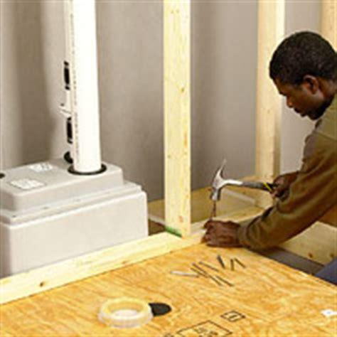 basement bathroom system installing an upflush toilet utility rooms basements