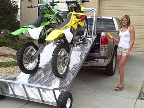 motocross bike trailer load and unload your dirt bikes the easy way elevation