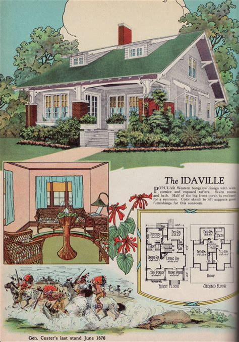 Old Farmhouse Floor Plans by 1920s American Residential Architecture 1925 American