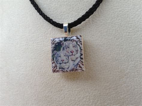 scrabble pendants scrabble tile pendant necklace white tiger 183 knotjustknots