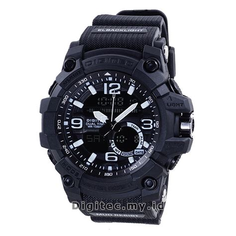 Jam Tangan Pria Digitec Dg 2057 Original Black Grey 1 digitec dg 2102t black jam tangan sport anti air murah