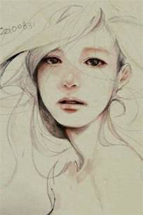 sad art sketch art pinterest girls sad