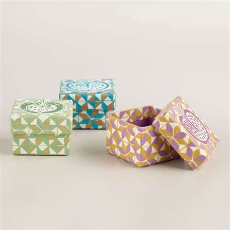 Origami Necklace Box - origami jewelry boxes set of 3 world market