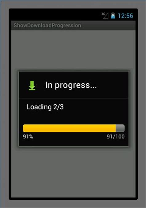 android progress bar android files showing progress bar 187 the open tutorials