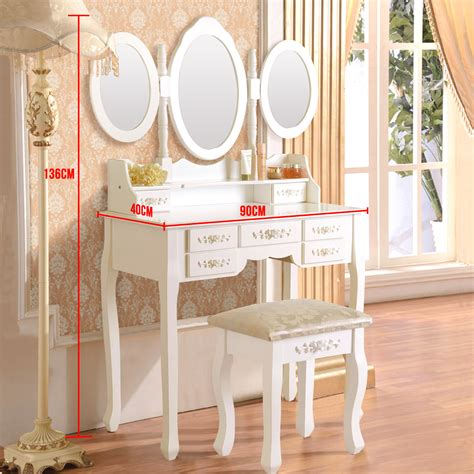 princess vanity set with mirror and bench white white vanity makeup dressing table set w stool 7 drawer