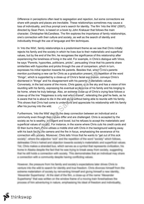 Chris Mccandless Essay by Essay On Into The Docoments Ojazlink