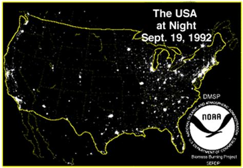 usa lights some satellite photos of earth at