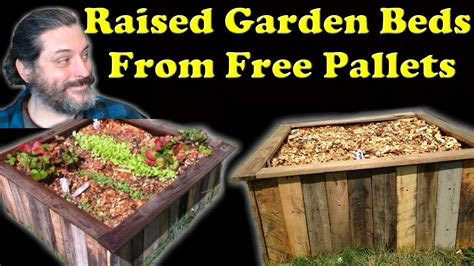 raised garden bed    wood pallets