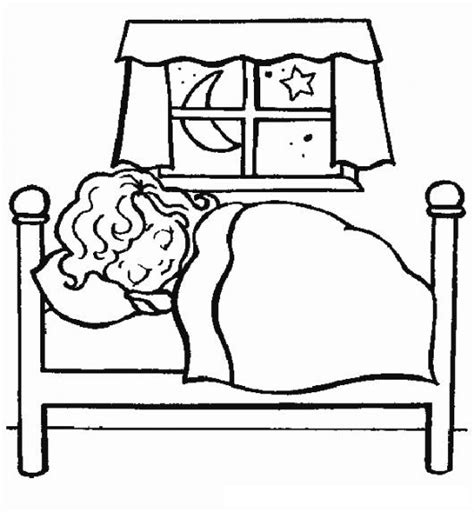 bed coloring page free go to bed coloring pages