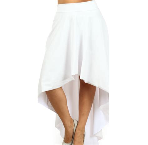 hi lo faux leather skirt white https