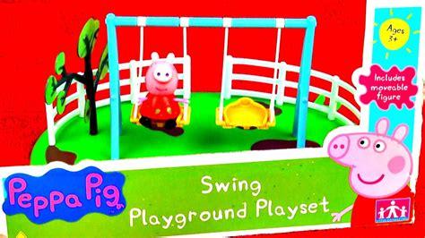 Peppa Pig Swing - peppa pig swing playground playset set review muddy