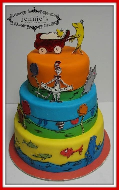 Dr Seuss Baby Shower Decorations Canada by New Fish Baby Shower Cake Cakes Beautiful Cakes For